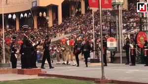 Wagah Border Beating Retreat ceremony, a symbol of India-Pakistan rivalry