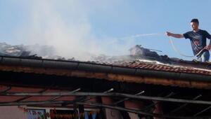 Burdurda ev yangını