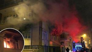 Samsunda yangın paniği