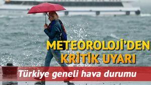 Yarın yağmur yağacak mı Meteorolojiden 25 Eylül Çarşamba günü için İstanbula uyarı