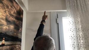 Silivri depreminin ardından Avcılarda bir evde çatlak oluştu