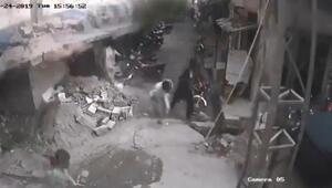 Pakistanda deprem anı kamerada