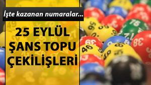Şans Topuda 875 bin TL sahibini buldu 25 Eylül Milli Piyango Şans Topu çekiliş sonuçları
