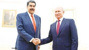 Putin'den Maduro'ya tam  destek