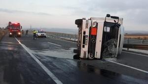 Geliboluda trafik kazası, 1 yaralı