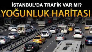 İstanbulda trafik var mı İşte deprem sonrası yol durumunda trafik yoğunluğu