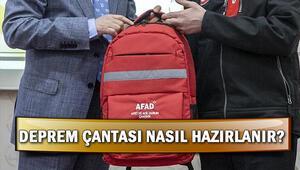 Deprem çantasında neler olmalı Deprem çantası nasıl hazırlanır