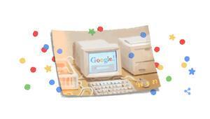 Google bu kez kendisini Doodle yaptı.. İşte Google 21. yaş günü teması