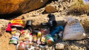 Vanda sığınakta PKKlıların yaşam malzemeleri ele geçirildi