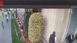 İBB binasındaki hareketlilik kamerada