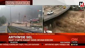 CNN Türk Meteoroloji Editörü Sürmeli, Artvinde sele neden olan yağışla ilgili konuştu