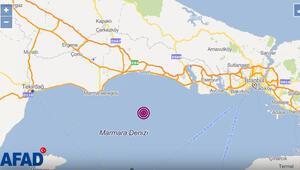Son dakika İstanbulda 3.8 büyüklüğünde deprem