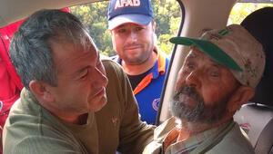 Ormanda kaybolan yaşlı adama 3 gün sonra ulaşıldı