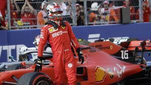 Rusyada pole pozisyonu Leclercin Schumacher sonrası ilk kez...