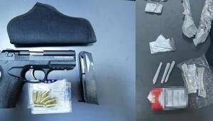 Kütahya'da ruhsatsız silah ve uyuşturucu ele geçirildi