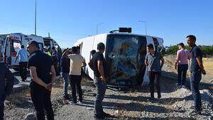 Malatyada halk otobüsü devrildi: Çok sayıda yaralı