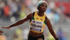Jamaikalı Shelly-Ann Fraser-Pryce altın madalyaya ulaştı