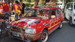 Galatasaraylı araç büyük ilgi topluyor