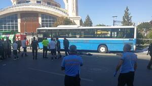 Ankarada halk otobüsü durağa girdi