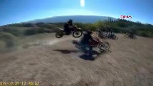 Akrobatik kaza kask kamerasında