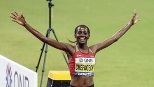 Kadınlar 3 bin metre su engellide Chepkoech altın madalya kazandı