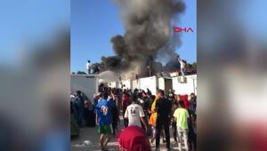 Yunanistan'da mülteci kampında yangın