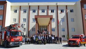 Bünyan Meslek Yüksekokulunda yangın tatbikatı yapıldı