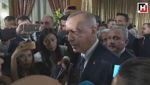 Erdoğan, yasama yılı açılış resepsiyonunda gazetecilerin sorularını yanıtladı