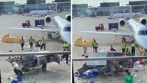 Havalimanında dehşete düşüren görüntü Ortalık fena karıştı