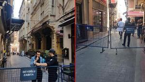 Taksimde binada çökme riski Sokak kapatıldı...
