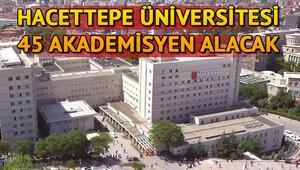 Hacettepe Üniversitesi 45 Öğretim Üyesi alacak Başvuru şartları neler