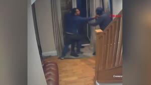 Evine giren hırsızlara meydan dayağı çekti