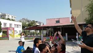 Ceyhanda öğrencilere drone ile eğitim