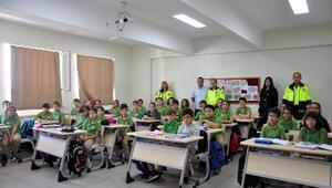 Malkarada öğrencilere trafik eğitimi verildi