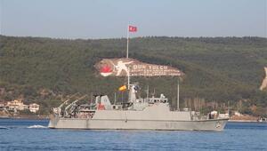 NATO savaş gemileri Çanakkalede