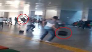 Adliyede şoke eden kavga Sandalyeler, çöp kutuları havada uçuştu...