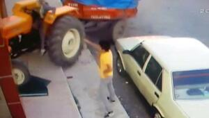 Babasının traktörüyle dükkana daldı Pat, küt ses geldi. Kafamı kaldırdım...