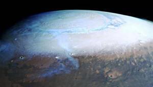 Marstan gelen son görüntüler inanılmaz: İşte kuzey kutbu