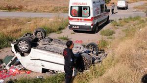 Kayseride iki otomobil çarpıştı: 2 yaralı