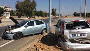 Hassada iki otomobil çarpıştı: 6 yaralı