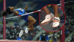 Ayakkabısı ile gündeme oturdu ABDli sporcu...