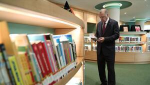Erdoğan Cumhurbaşkanlığı Kütüphanesinde incelemede bulundu