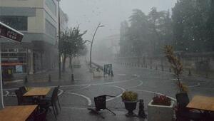 Kırklarelide sağanak yağış zor anlar yaşattı