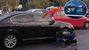 Bakırköyde lüks otomobile silahlı saldırı