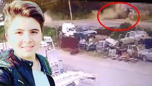 17 yaşındaki Berkayın öldüğü kazanın görüntüleri ortaya çıktı
