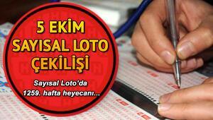 Sayısal Loto 5. kez devretti Milli Piyango 5 Ekim Sayısal Loto çekiliş sonuçları
