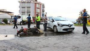 Tokat'ta otomobille motosiklet çarpıştı: 1 yaralı