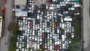 Yer Kocaeli... 500 milyon TL değerinde araç atıl durumda