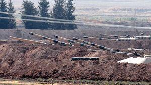 Sınırda namlular Suriyeye çevrildi