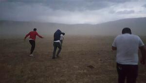 Bitliste toz fırtınası zor anlar yaşattı
